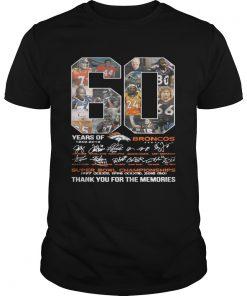 60 years of Denver Broncos signature Super Bowl Champions Unisex