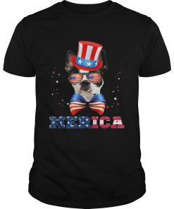 American Flag Merica Patriotic Boston Terrier 4th of July  Unisex