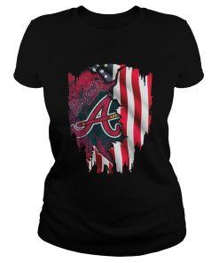 Atlanta Braves America Flag  Classic Ladies