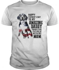 Beagle happy fathers day to my amazing daddy American flag  Unisex