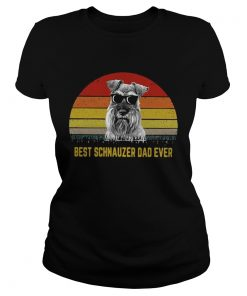 Best Schnauzer dad ever sunset  Classic Ladies