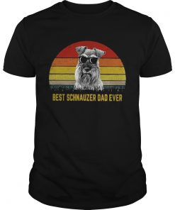 Best Schnauzer dad ever sunset  Unisex