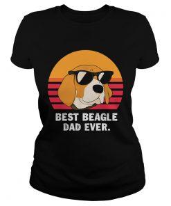 Best beagle dad ever retro  Classic Ladies