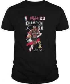 Bulls 23 Champion 6X Michael Jordan signature  Unisex