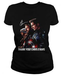 Captain America thank you Chris Evans signature  Classic Ladies