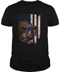 Cow American flag  Unisex