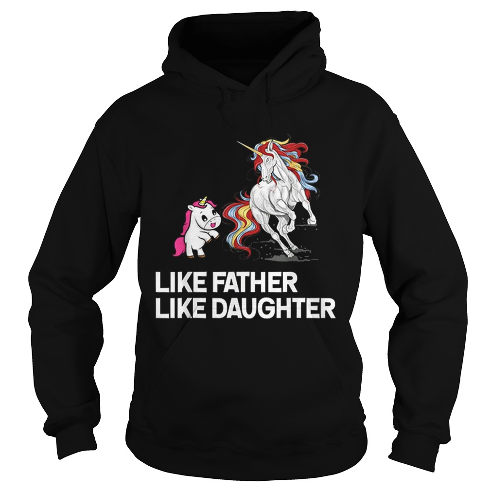 Dad Unicorn Father Daughter Fathers Day Hoodie