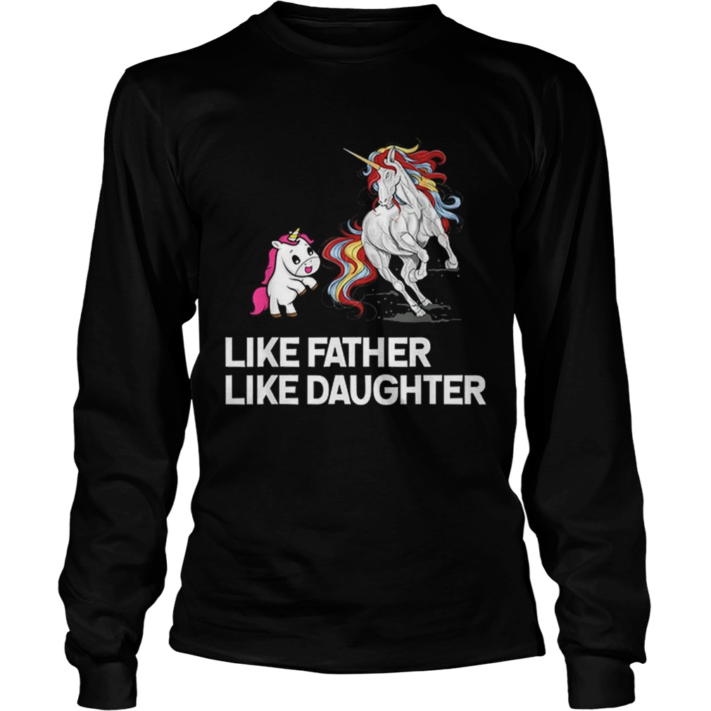 Dad Unicorn Father Daughter Fathers Day LongSleeve