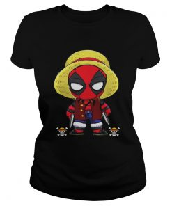 Deadpool Luffy funny One piece  Classic Ladies