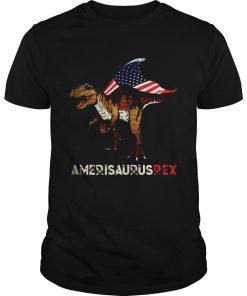 Dinosaur TRex American flag Ameri Saurus Rex 4th of July  Unisex