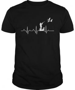 Duck Hunting Waterfowl Hunter Heartbeat Shirt Unisex
