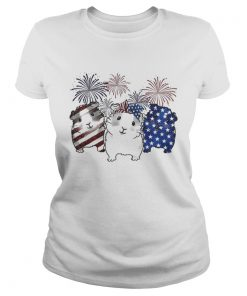 Fireworks Guinea Pigs 4th of July independence day American flag  Classic Ladies