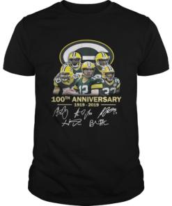 Green Bay Packers 100th anniversary 1919 2019 signature  Unisex