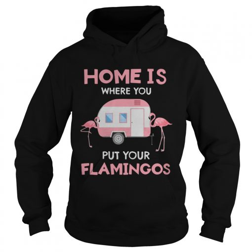 Home is where you put your Flamingos  Hoodie