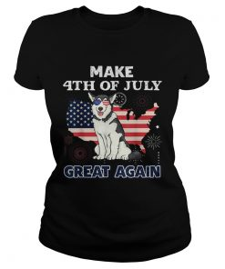 Husky Make 4th Of July Great Again Dog  Classic Ladies