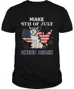 Husky Make 4th Of July Great Again Dog  Unisex