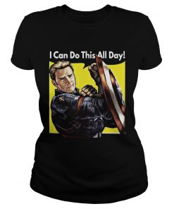I Can Do This All Day Captain America Shirt Classic Ladies