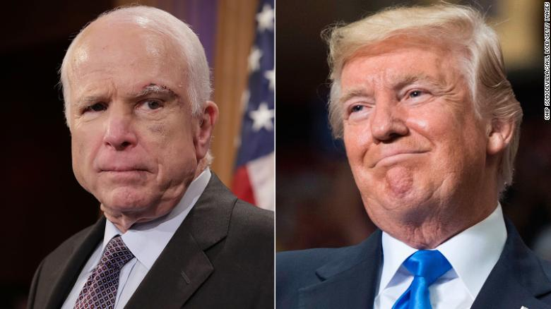 It's Donald Trump's birthday but it's #JohnMcCainDay on Twitter