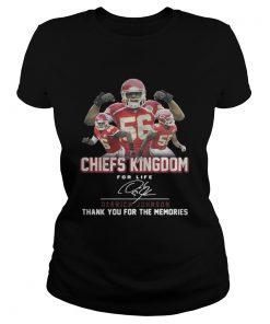 Kansas City Chiefs Kingdom for life Derrick Johnson signature Classic Ladies