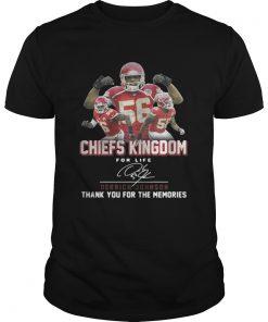 Kansas City Chiefs Kingdom for life Derrick Johnson signature Unisex