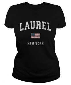 Laurel New York Ny Vintage American Flagports  Classic Ladies