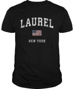 Laurel New York Ny Vintage American Flagports  Unisex