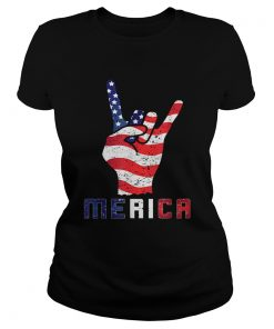 Merica Rocks Usa Flag 4th Of July Outfit  Classic Ladies