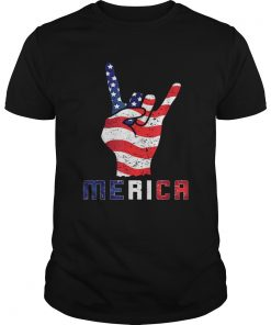 Merica Rocks Usa Flag 4th Of July Outfit  Unisex