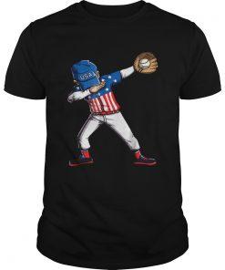Original Baseball Dabbing Usa Merica 4th Of July Dab Dance  Unisex
