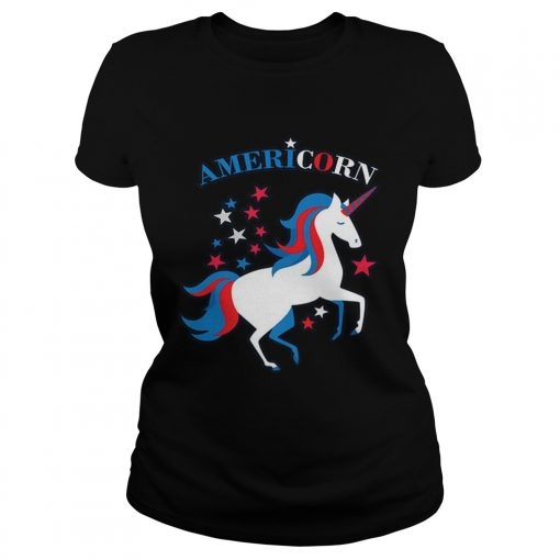 Patriotic American Flag Unicorn Americorn 4th of July  Classic Ladies