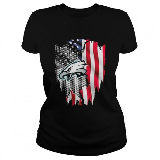 Philadelphia Eagles American flag  Classic Ladies