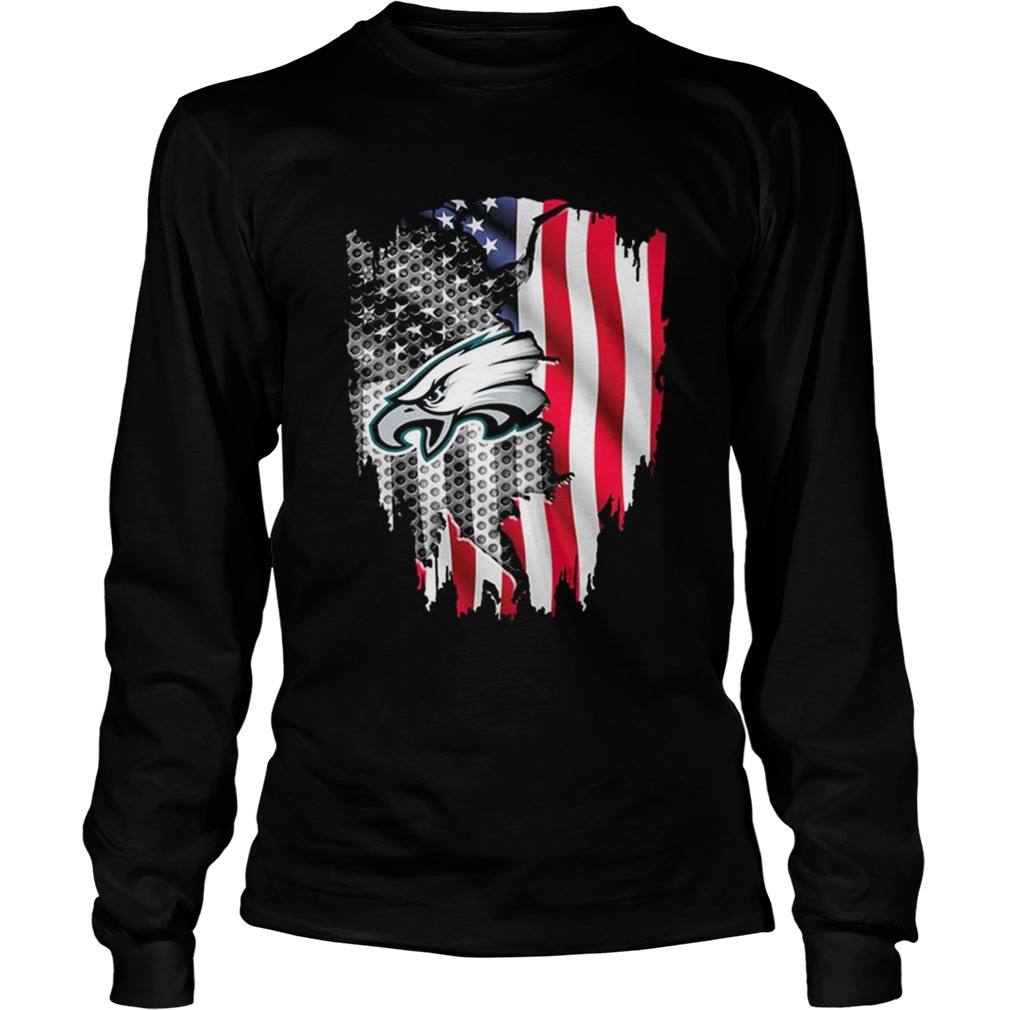 Philadelphia Eagles American flag LongSleeve