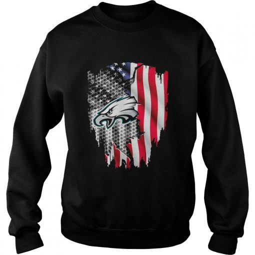 Philadelphia Eagles American flag  Sweatshirt