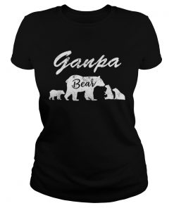Premium Mens Ganpa Bear T With Three CubsFather Day Gifts Tee Shirt Classic Ladies