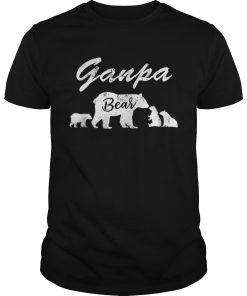 Premium Mens Ganpa Bear T With Three CubsFather Day Gifts Tee Shirt Unisex