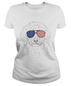 Premium Teddy The Labradoodle American Sunglasses Dog Shirt Classic Ladies