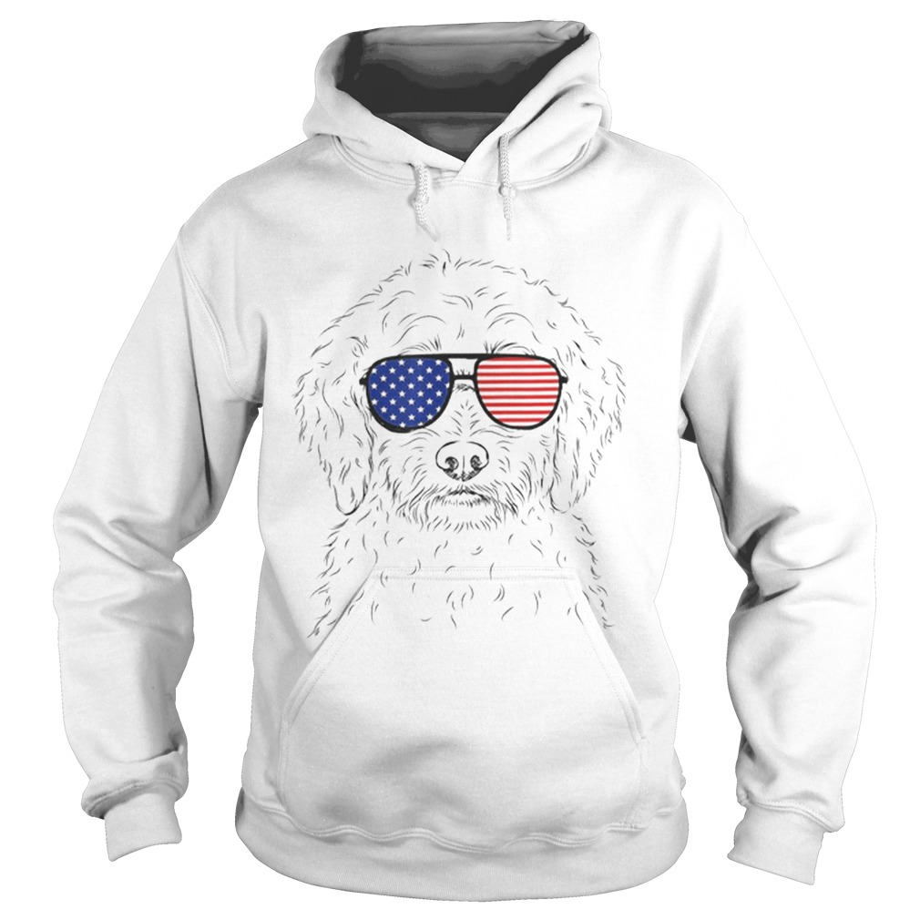 Premium Teddy The Labradoodle American Sunglasses Dog Shirt Hoodie