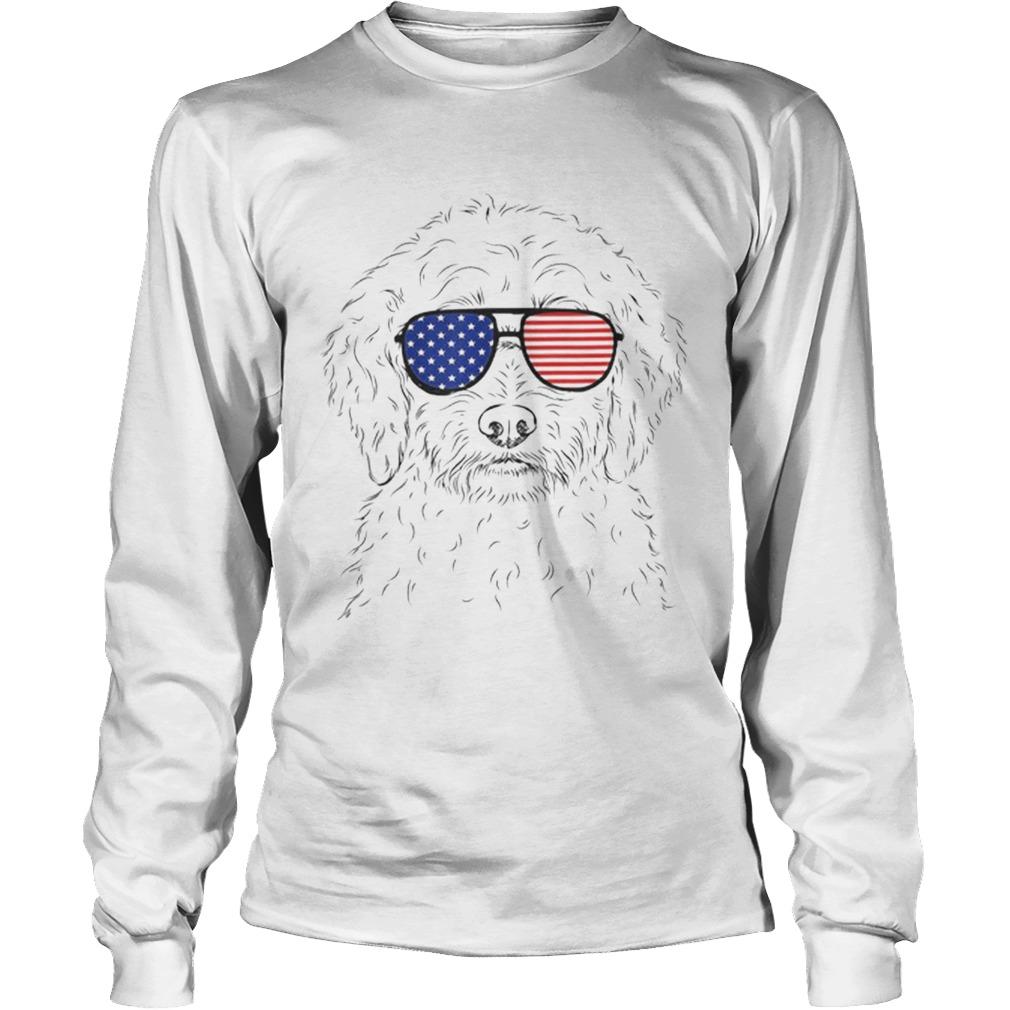 Premium Teddy The Labradoodle American Sunglasses Dog Shirt LongSleeve