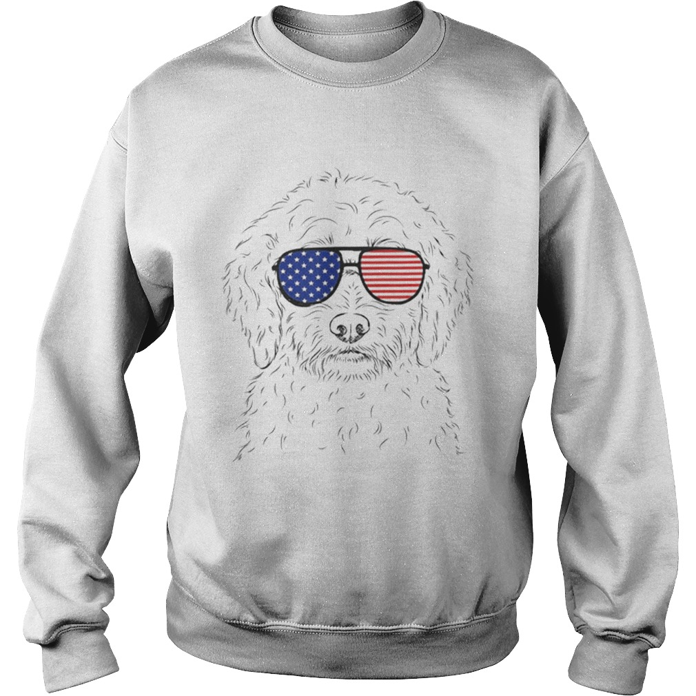 Premium Teddy The Labradoodle American Sunglasses Dog Shirt Sweatshirt