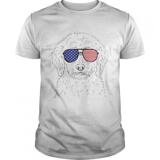 Premium Teddy The Labradoodle American Sunglasses Dog Shirt Unisex