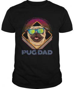 Pug Dad Father Day Vintage  Unisex