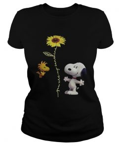 Snoopy and Woodstock You are my sunshine sunflower  Classic Ladies