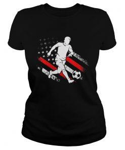 Soccer Dad American Flag Distressed Patriotic  Classic Ladies