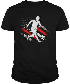 Soccer Dad American Flag Distressed Patriotic  Unisex
