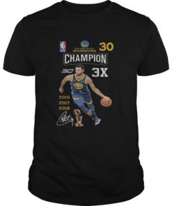 Stephen Curry NBA Golden State Warriors 30 Champion 3X  Unisex