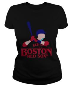Stranger Things Night Boston Red Sox Shirt Classic Ladies