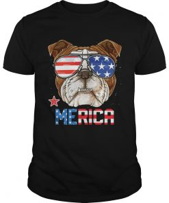Sunglass Bulldog Merica 4th July independence day American flag  Unisex