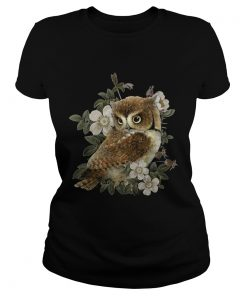 The Owl with flower  Classic Ladies