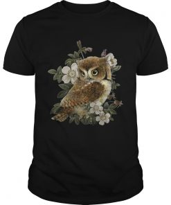 The Owl with flower  Unisex