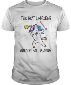 The best unicorns are softball players TShirt Unisex